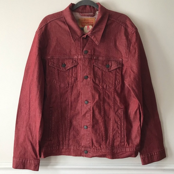 Levi's Red Denim Trucker Jacket XL